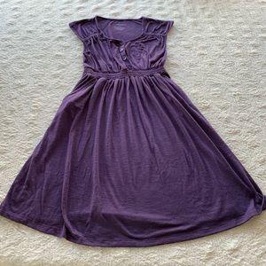 Liz Lange size small purple maternity dress